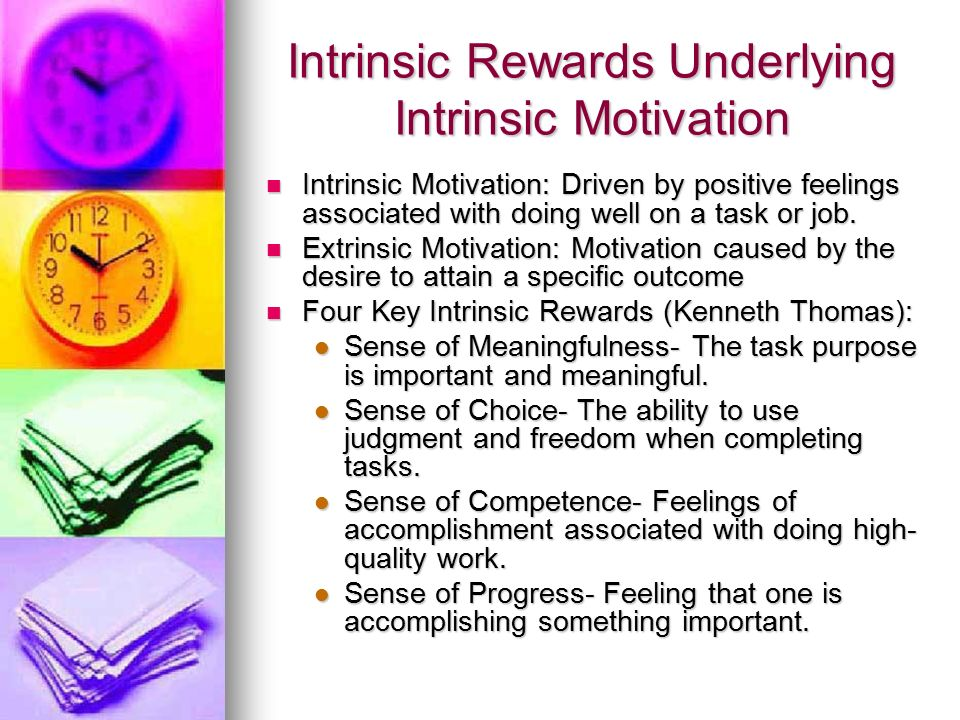intrinsic motivation Define intrinsic: belonging to the essential nature or constitution of a thing — intrinsic in a sentence.