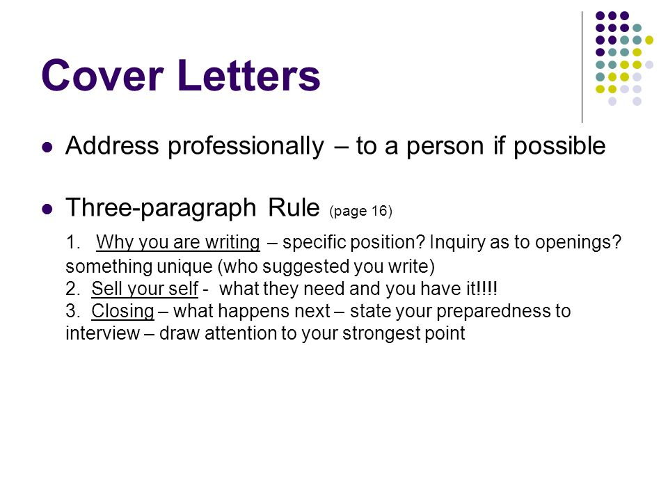job inquiry cover letters