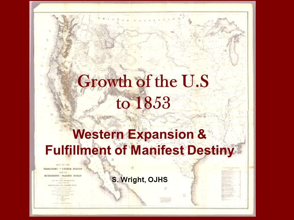 "manifest destiny critical growth of the Expansion the phrase ""manifest destiny"" originated in the nineteenth century, yet the concept behind the  acquisition was crucial to their future prosperity."
