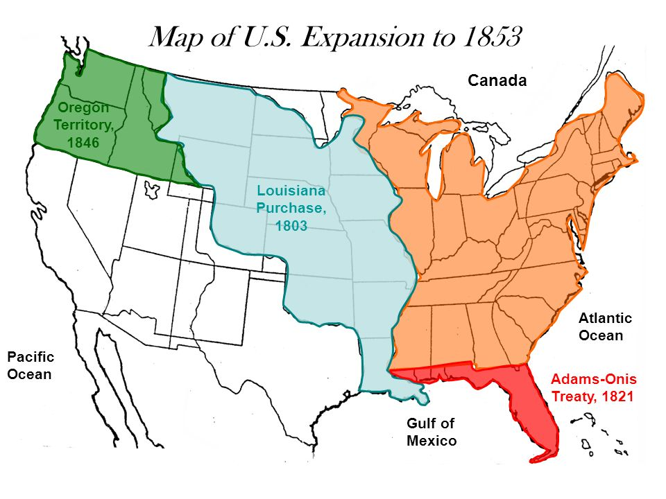 Westward Expansion Map Of The USa Land Areas And With United - Oregon map of us
