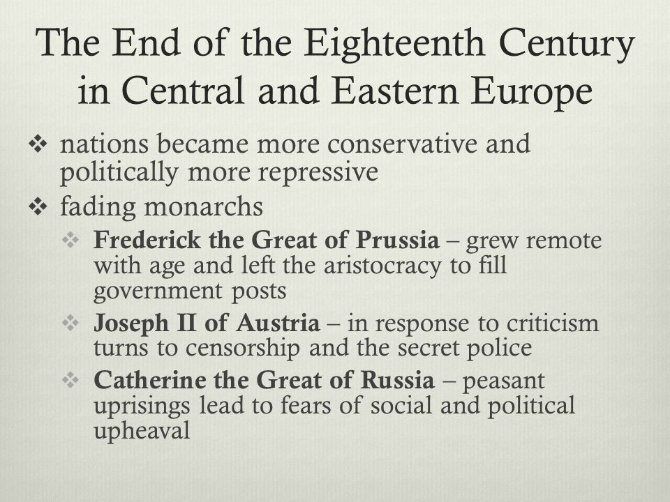 an introduction to the history of the 18th century european enlightenment The introduction of reason by the enlightenment was  the enlightenment in european history]::  by the mid-18th century, enlightenment principles were.