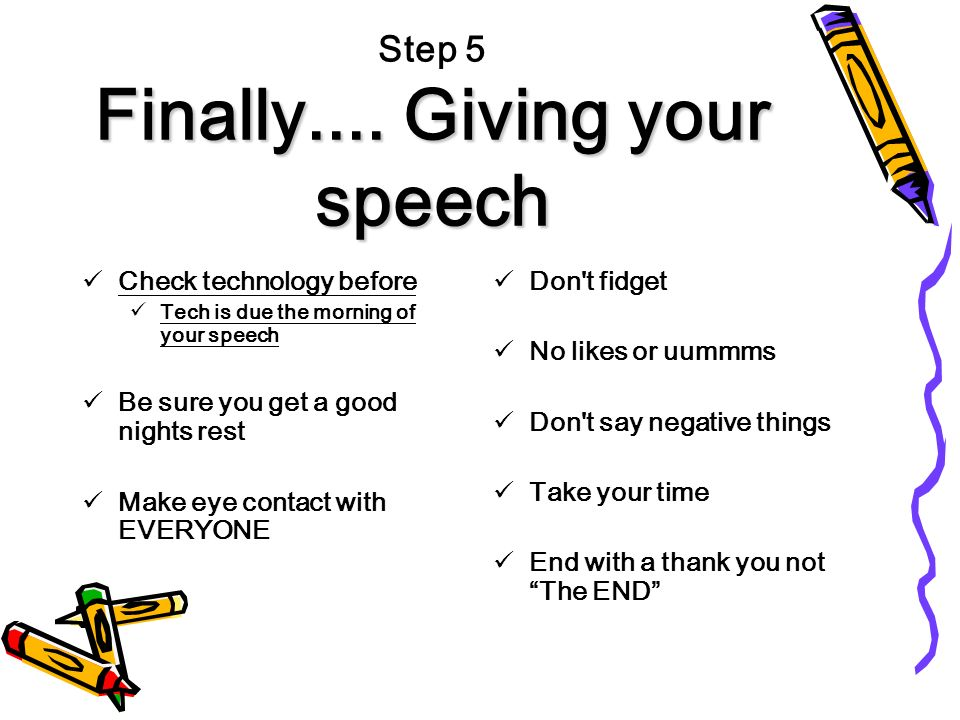 How to end an informative speech