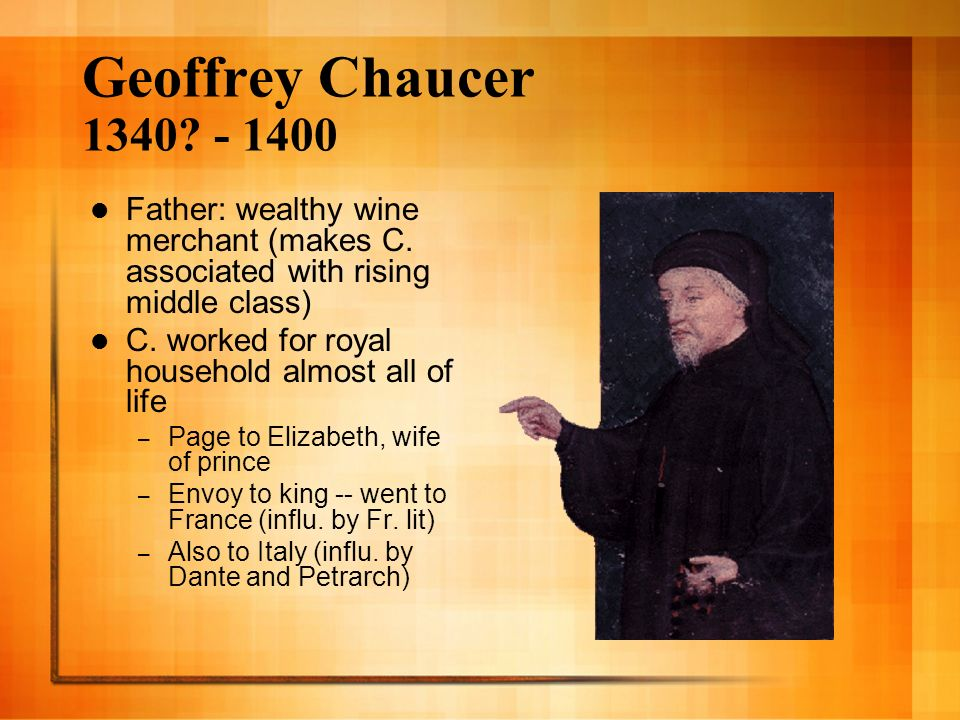 geoffrey chaucers death left the canterbury tales unfinished The first great english poet, geoffrey chaucer lived in a turbulent period of war,  plague,  woodcut of the knight from the canterbury tales (folio c1r)  the  work, however, was never completed and chaucer died leaving it unrevised   the fact that it is incomplete - lacking several pages at the start and end, and with .