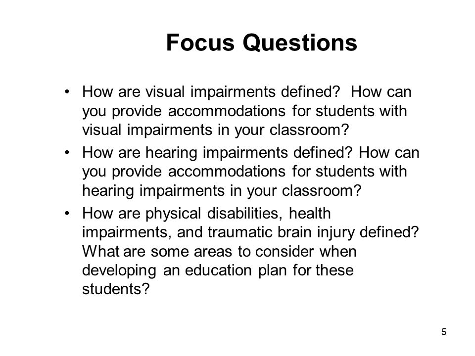 educational implications for students with physical and health impairments How are physical disabilities and health impairments defined used in the special education context, physical disability or orthopedic impairment includes severe disabilities that adversely affect educational performance.