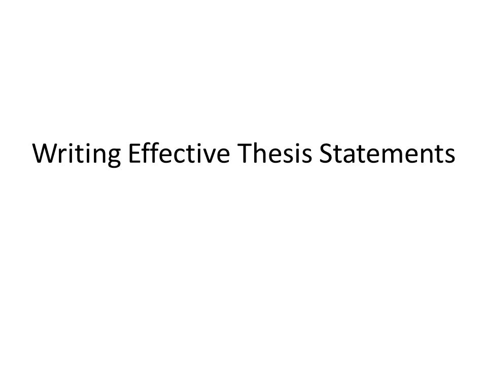 thesis statement on effective communication