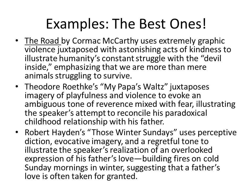 Examples: The Best Ones!