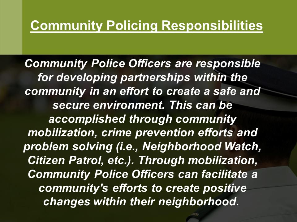 community policing responsibilities