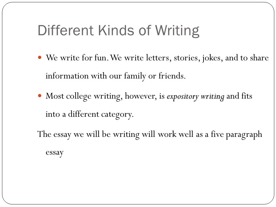 a road map for your essay ppt  2 different kinds of writing