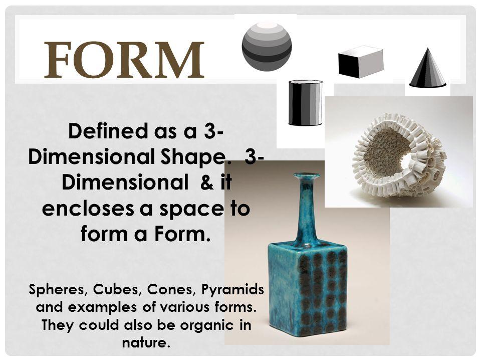 Elements Of Art Form Line Shape Color Texture Value Space. - ppt ...