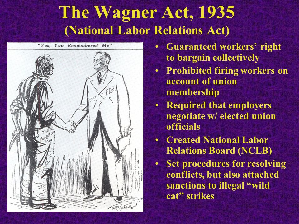 national labor relations act 2017-3-23  the national labor relations act at the crossroads edward silver joan mcavoy [l]t would seem that the case for abolishing the.