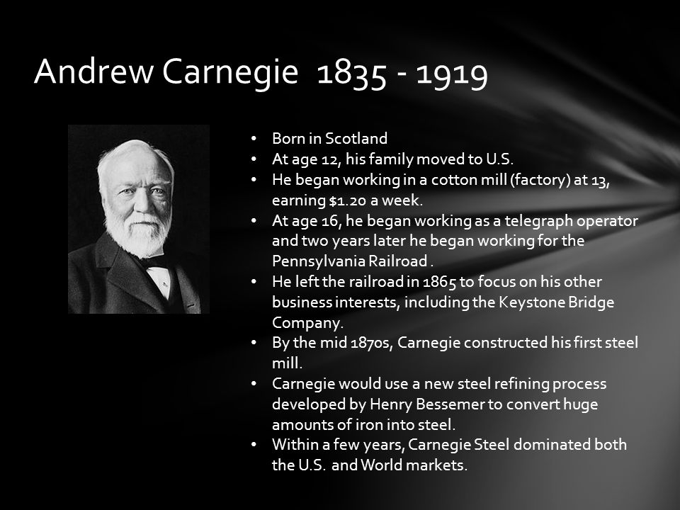andrew carnegie vs henry george Progress and poverty has 228 ratings and 30 reviews henry george saw the third way 2012 andrew ragland rated it did not like it review of another edition.