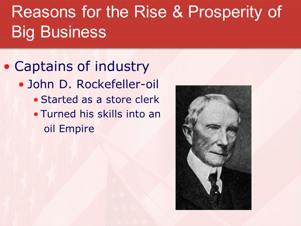 john d. rockefeller captain of industry essay Two prominent names in big business were john d rockefeller and andrew   we will write a custom essay sample on captain of industry or robber baron.