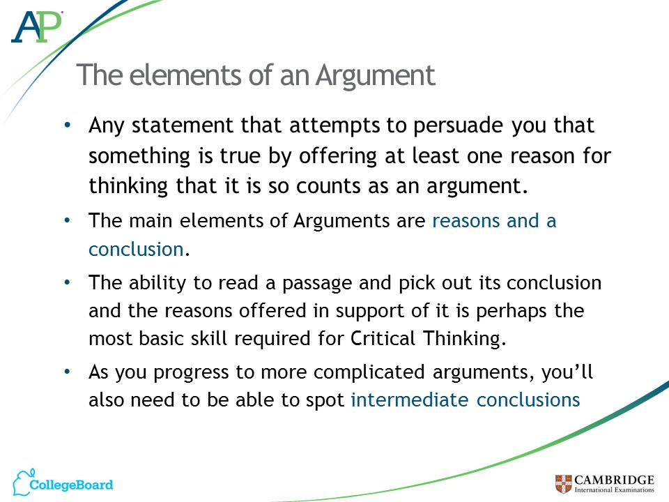 good critical thinking arguments Critical thinking and writing mean that argument is presented in different ways but good critical thinking is systematic –like a.