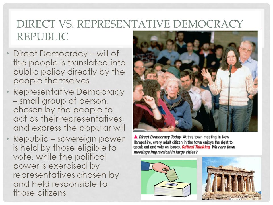 Direct vs. Representative Democracy