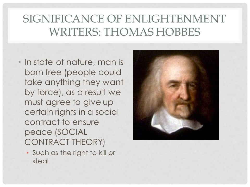 Significance of the enlightenment in the