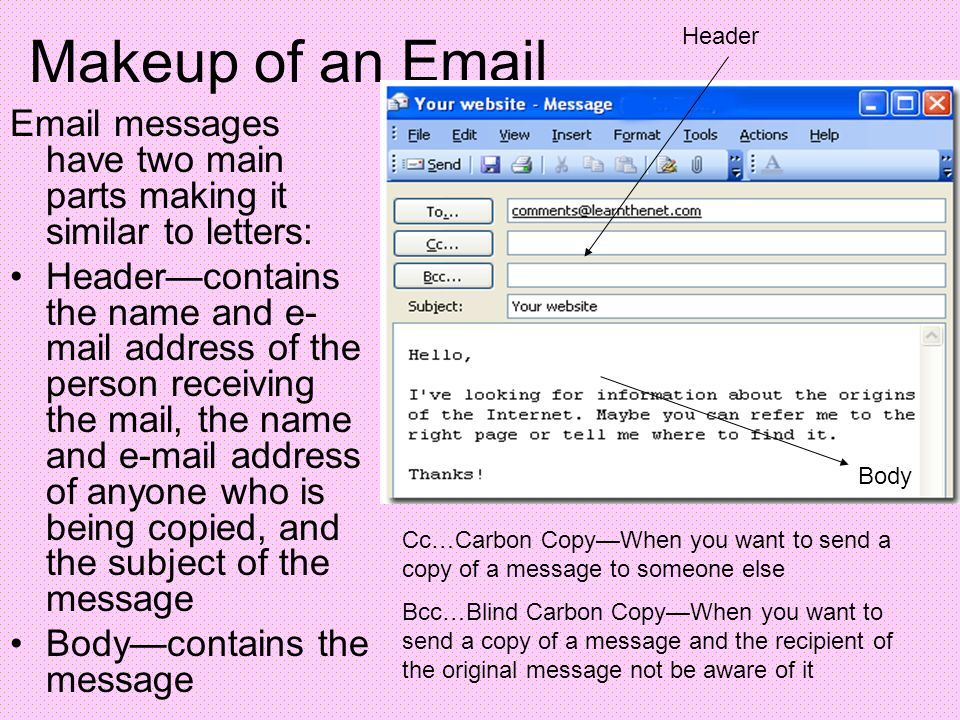 how to get email header from mail.com