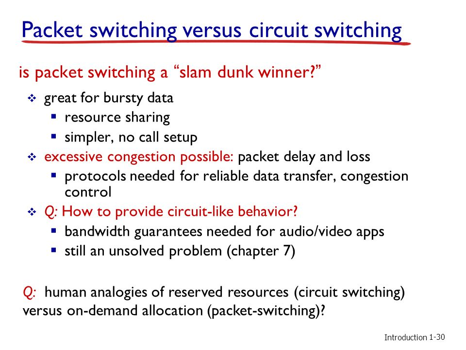 major protocols packet circuit switching Therefore, circuit switching in core networks (eg, core of the internet) may be expected not only to support static logical links for higher -layer packet switched protocols.