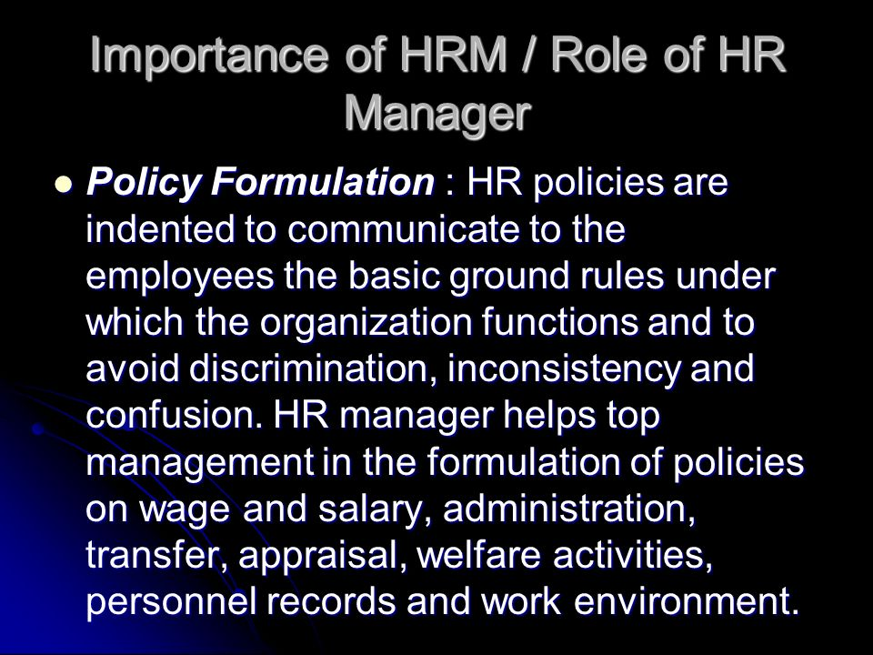 role of human resource manager in Human resource plan: a human resource plan is an output of develop human resource plan the human resources planning requires a plan for when and how team members are added, managed, controlled, and released from the project.