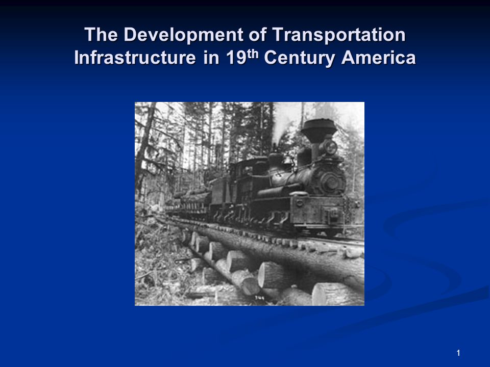 an analysis of transportation in the 19th century