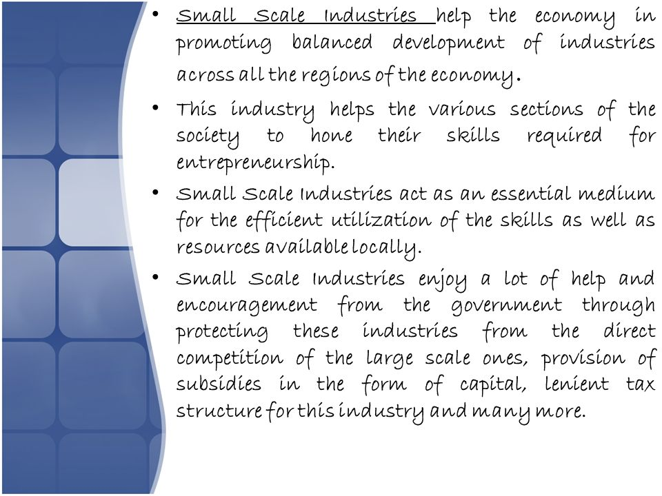 The growth of small scale businesses Essay Sample
