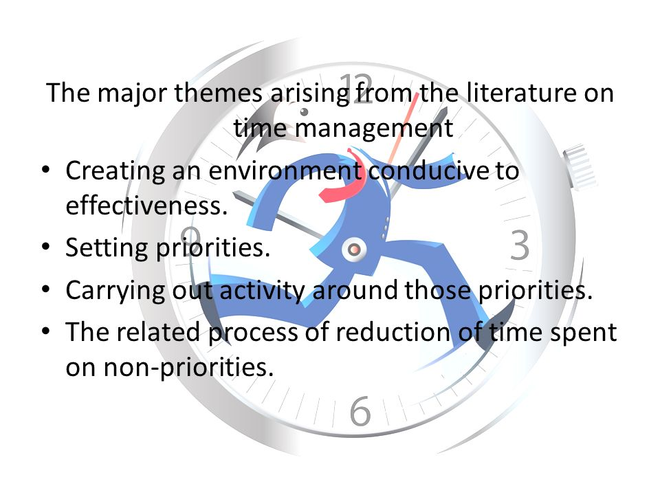 time management related literature Posts about time management written by ben (literature review hq) and thesis whisperer.