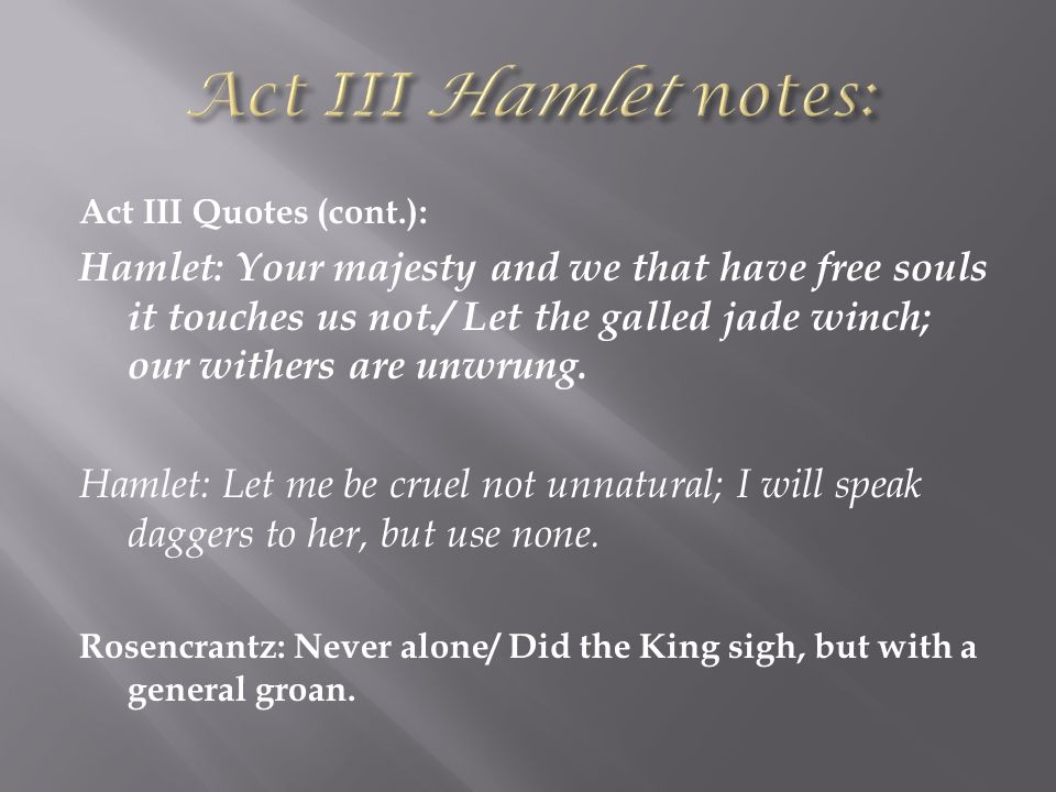 hamlet quote analysis Study 52 hamlet test study guide (quote identification) flashcards from saeli e on studyblue.
