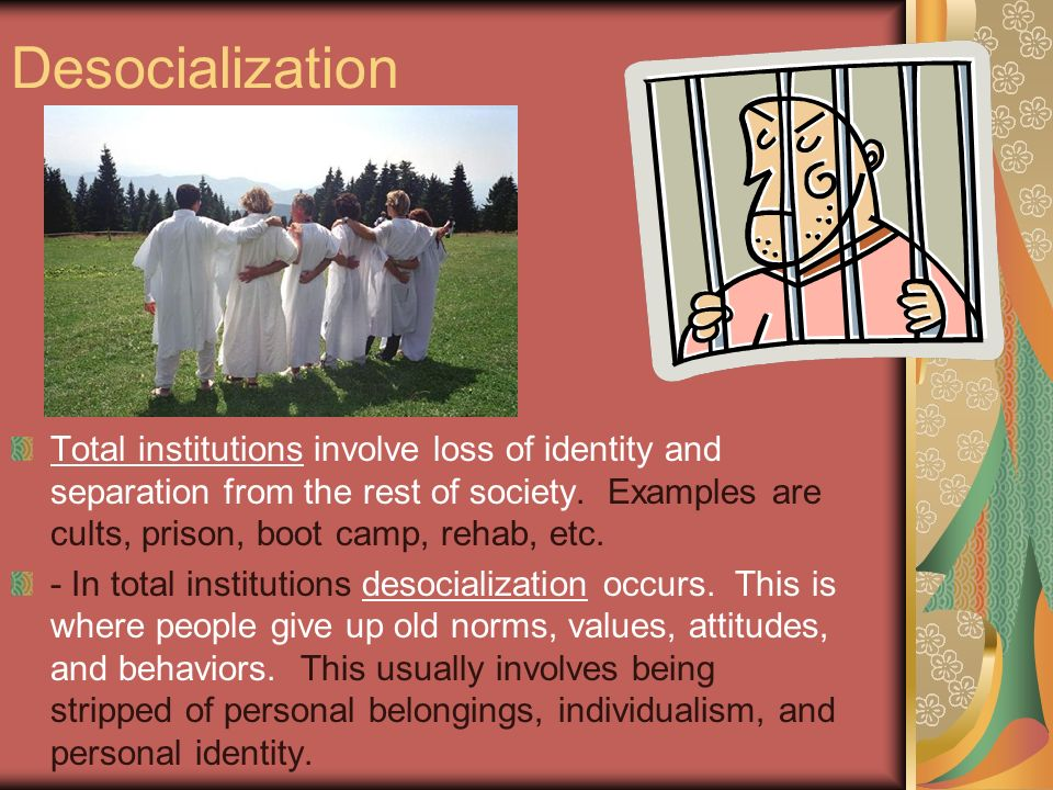 boot camp resocialization Agents of socialization resocialization  special settings that require intense resocialization, such as boot camps,  imprisonment or military boot camp),.