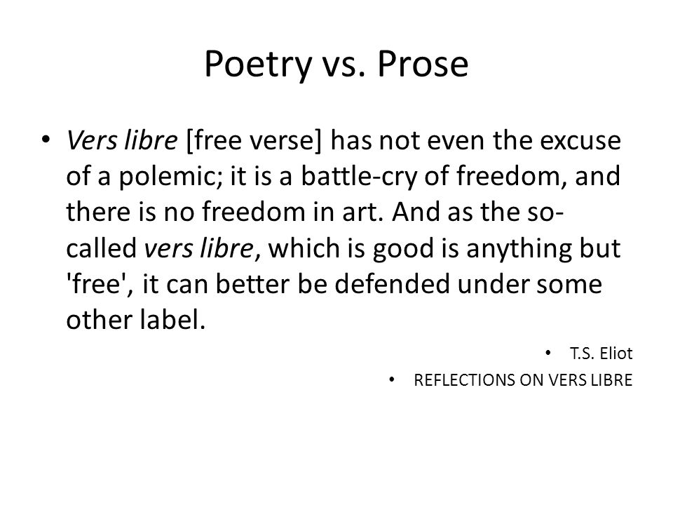 Finding Poetry in Prose and Prose in Poetry: Discrete Skills - ppt ...