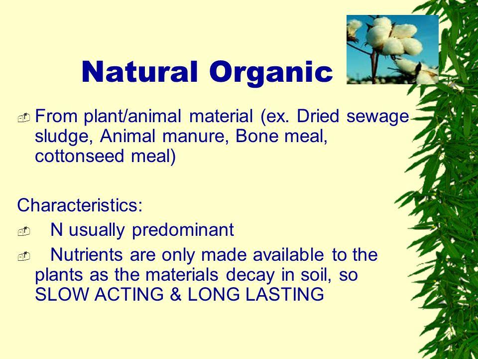 Natural Organic Vs Organic Based Fertilizer