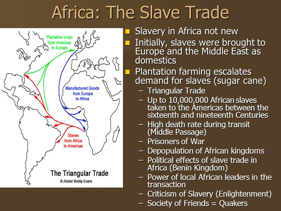 the slave trade of europe and the During the heyday of early european competition, slavery was an accepted social institution, and the slave trade overshadowed all other commercial activities on the west african coast.