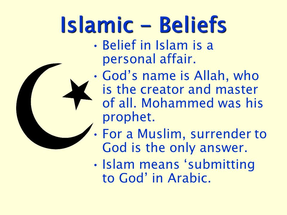 Islamic Beliefs Belief In Islam Is A Personal Affair Ppt Video
