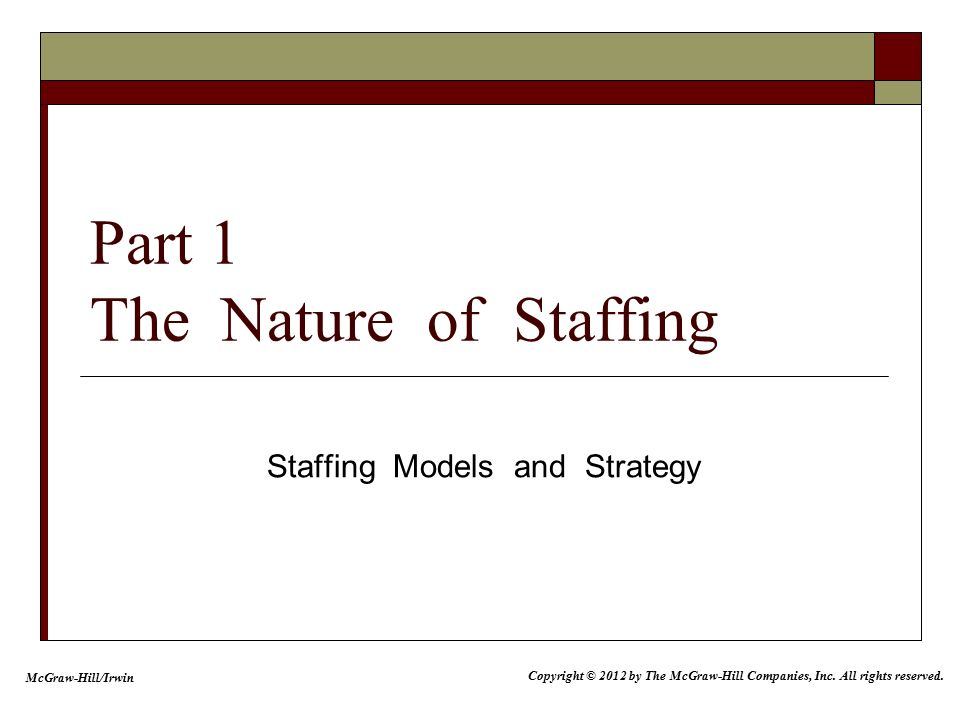 nature of staffing Meaning of staffing earlier staffing was considered to be a part of organization function of management it is now recognized as a separate management function the reason for separating the staffing from organizing is to give proper  nature and importance of staffing.