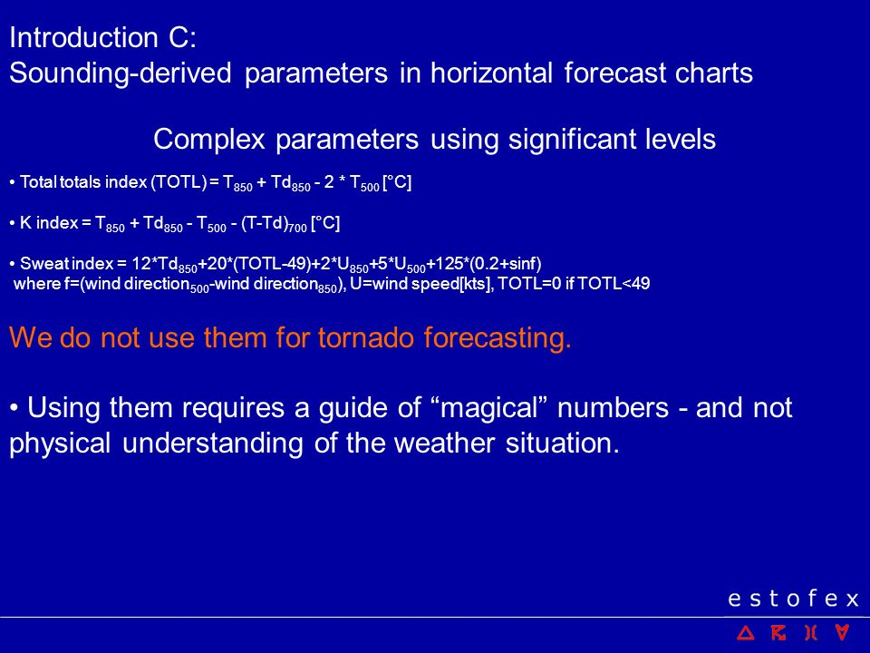 Complex parameters using significant levels