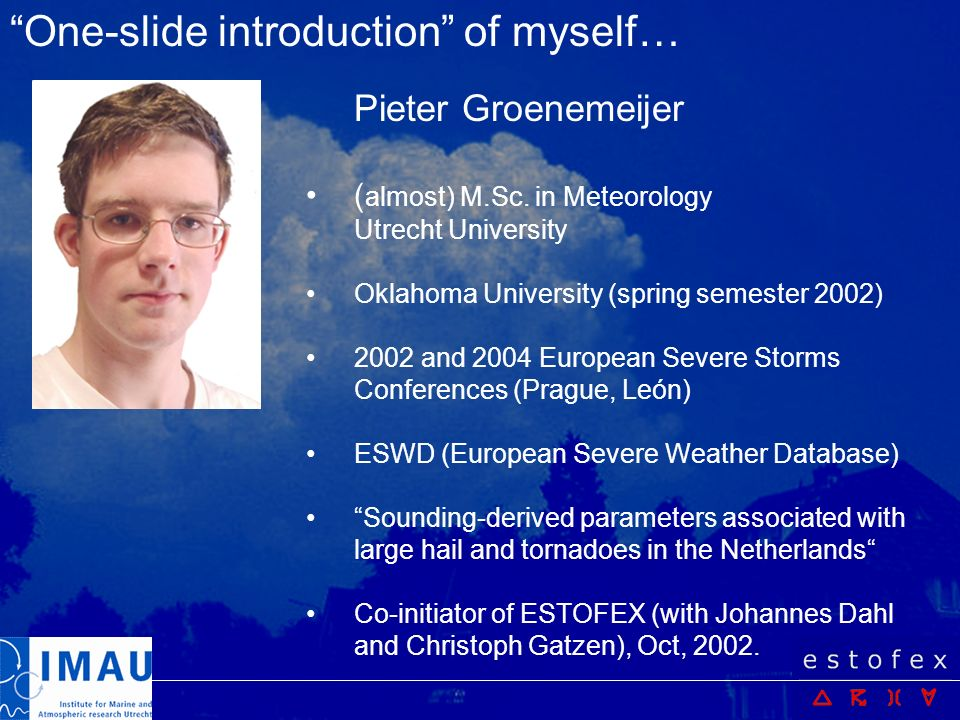 One-slide introduction of myself…