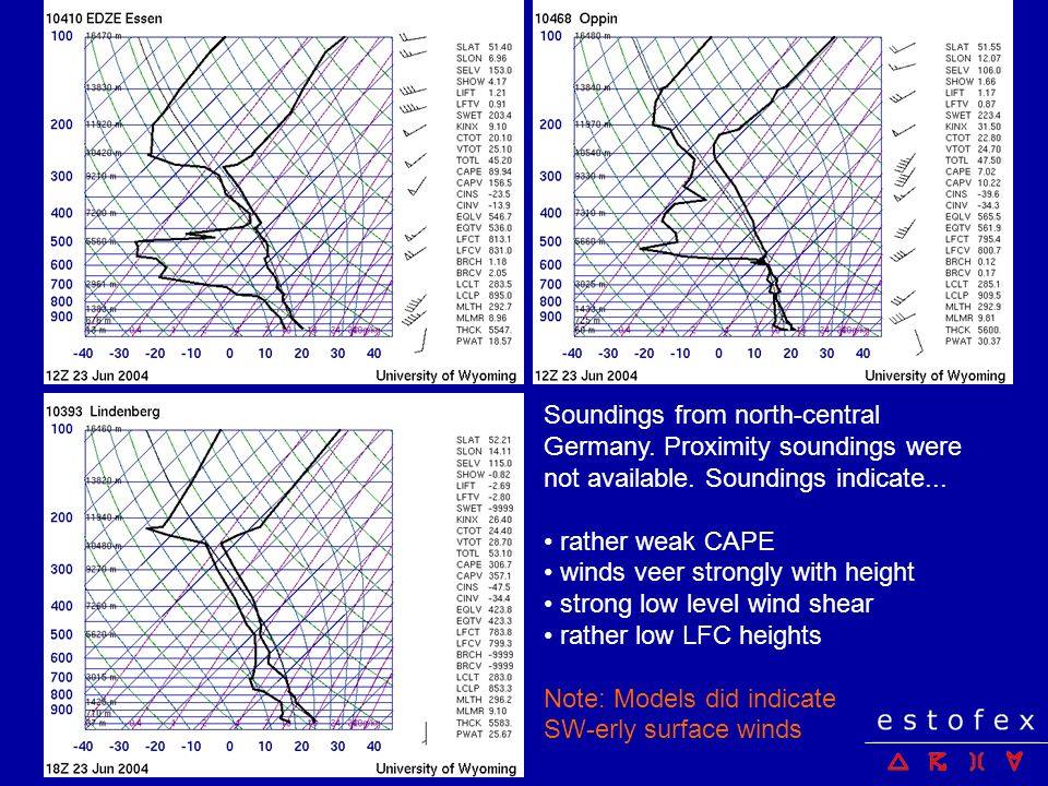 Soundings from north-central Germany