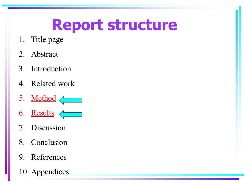 Report writing service methodology ppt