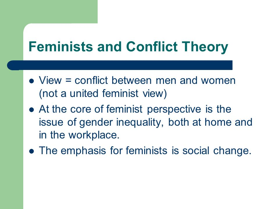 Feminist Theories of Gender Inequality Research Paper Starter