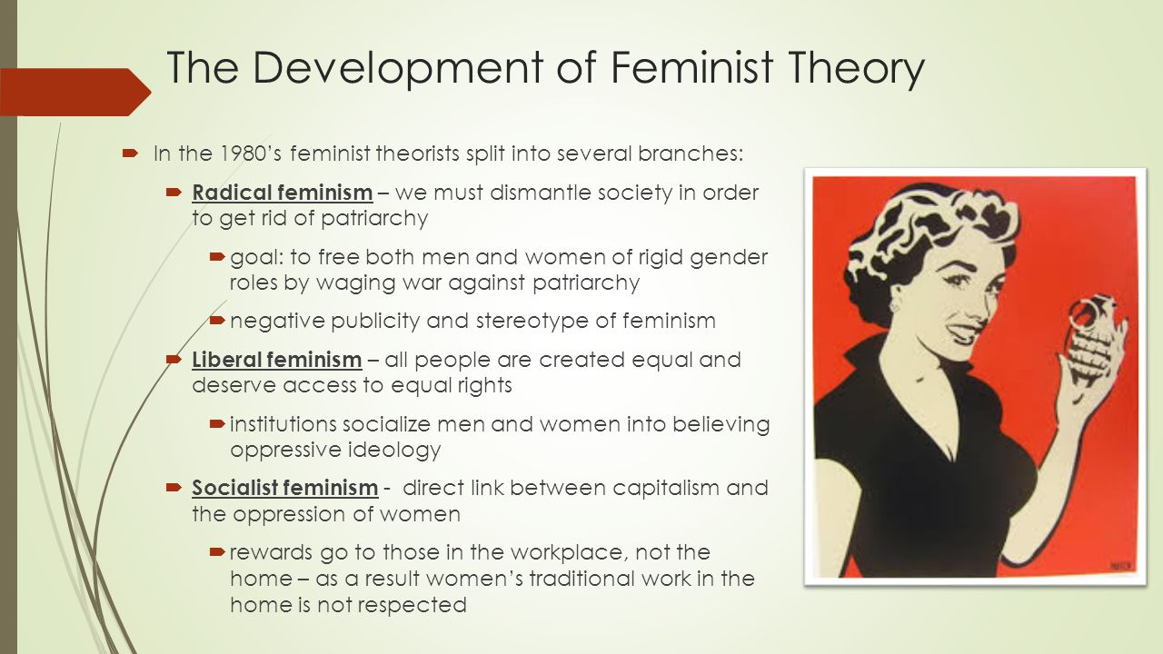 "development of feminism Before understanding what feminism means and what kind of role it has in world history it is important to clarify definite aspects of its development and find out its influence on today's society ""feminism is a collection of movements and ideologies aimed at defining, establishing, and defending equal political, economic, and social rights ."