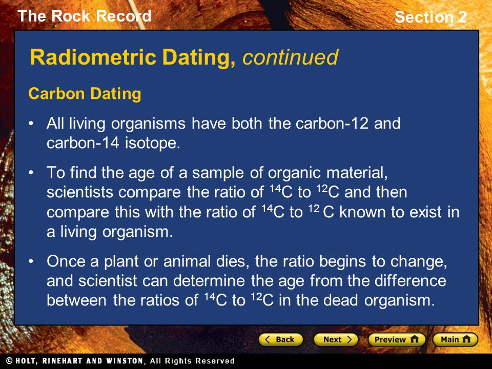 Describe the difference between relative dating and radiometric dating