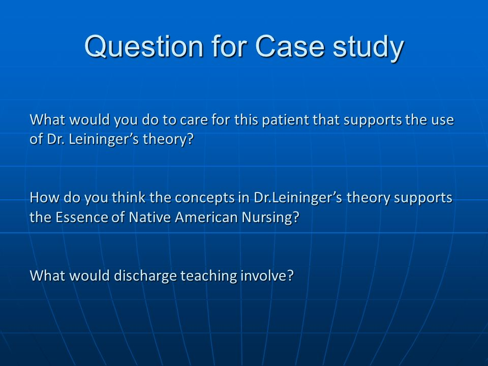 case study 6 discharge Case studies please note: all the patient is being prepared for discharge to hospice at home when she expresses some concern regarding her son case study #6.