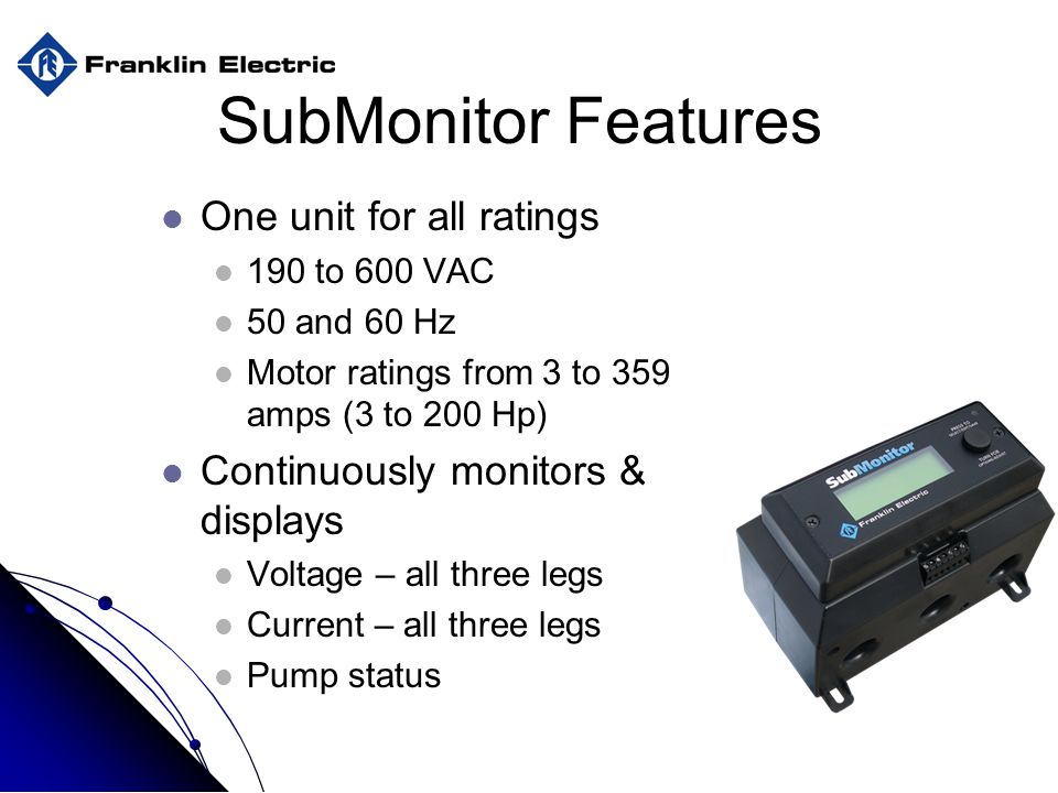 submonitor features one unit for all ratings
