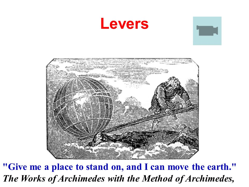 give me a stand point and i will move the earth archimedes essay Moving the earth begins with understanding your leverage point: by knowing where you stand we create as archimedes said, give me a to stand and i will move.