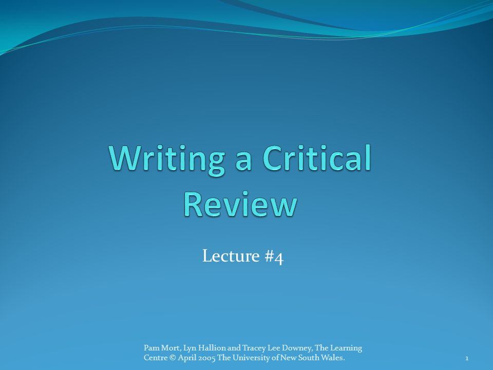 how to write a critical review of a video