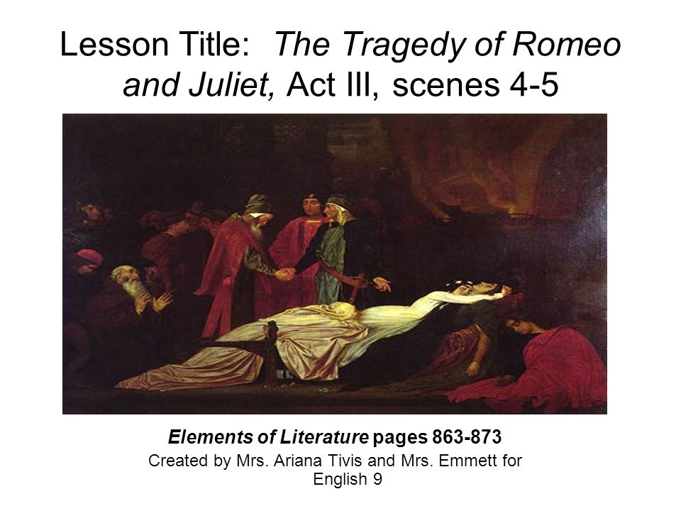 A plot overview of the events that led to the tragedy of romeo and juliet