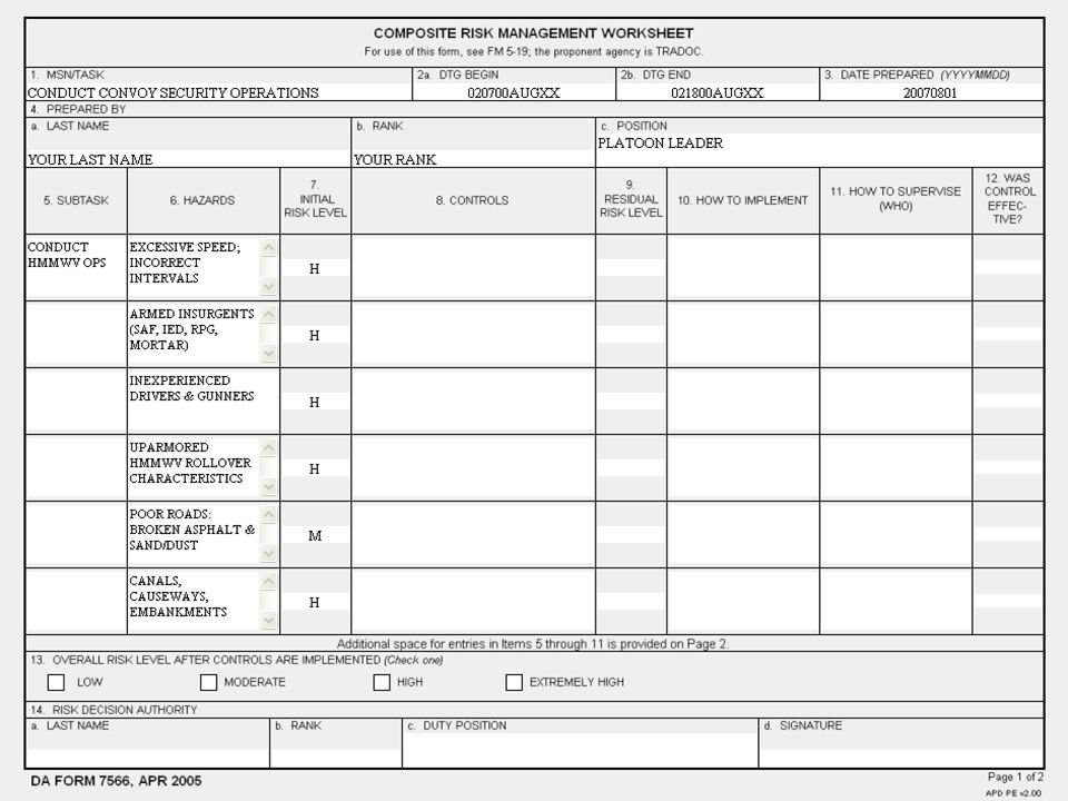 Crm worksheet da form 7566