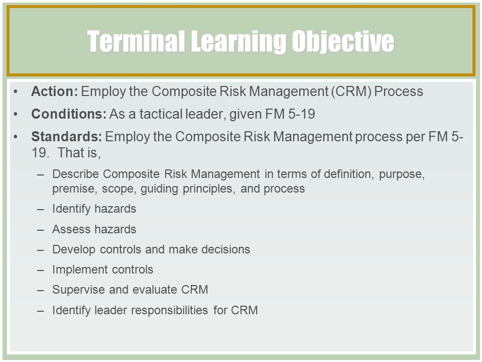 terminal course objectives essay Assuming that the goal is clear, you build learning objectives to meet the goal   can you give an e-learning examples of what someone will learn to do for  an  enabling objective is knowledge based whereas our terminal.