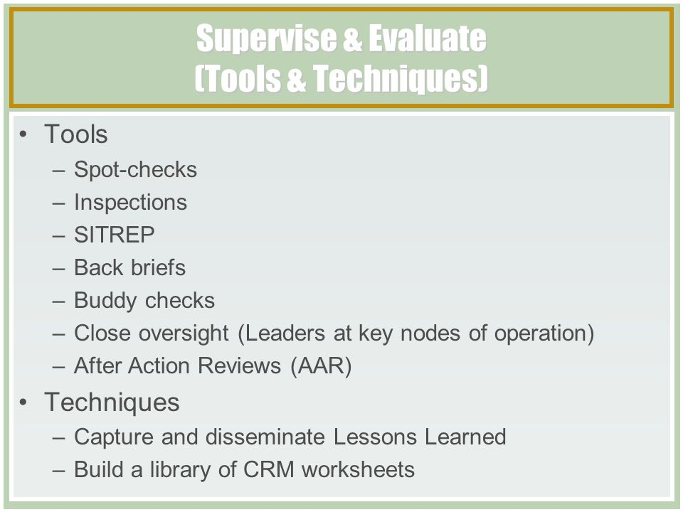 Composite Risk Management Tactical Course - ppt download