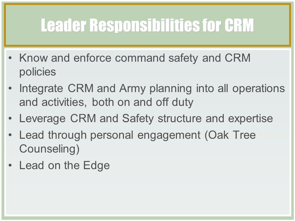 Composite Risk Management Tactical Course ppt download – Army Crm Worksheet
