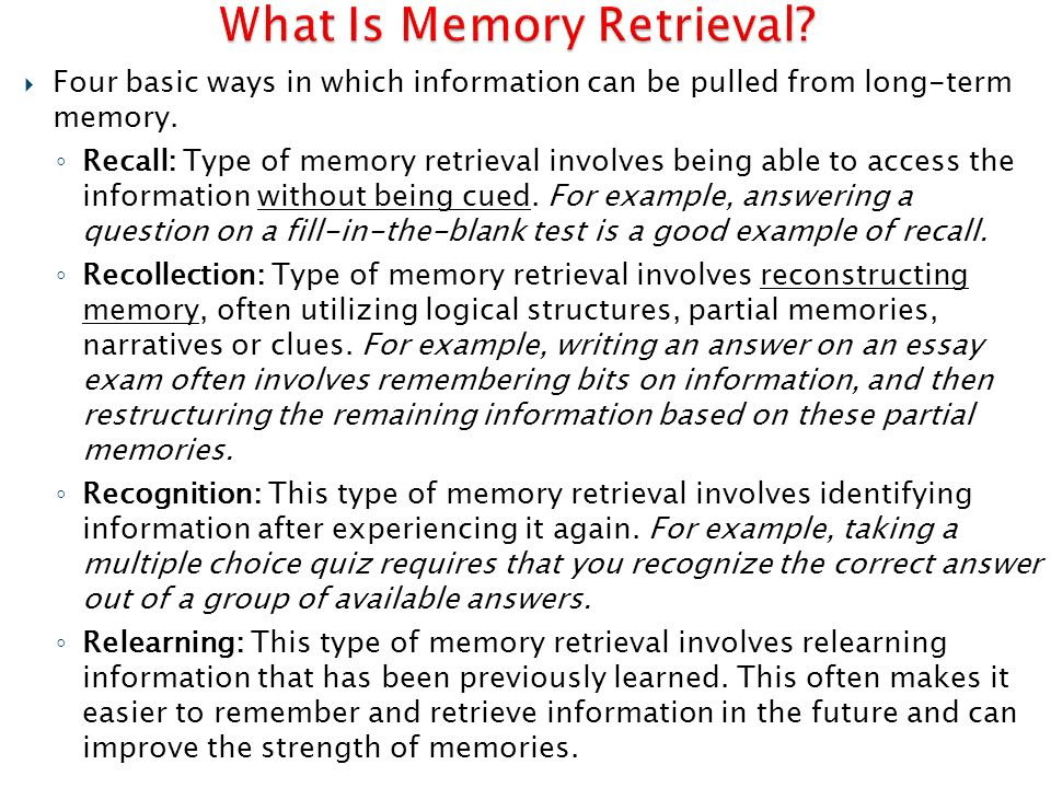 Essay on Memory: (Meaning and Types)