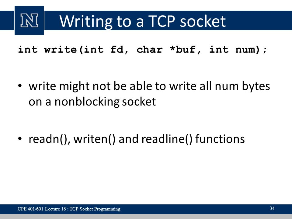 Code a simple tcp socket server in winsock